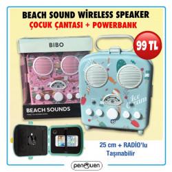 BEACH SOUND WİRELESS SPEAKER VE ÇOCUK ÇANTASI