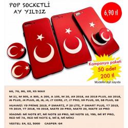 POP SOCKETLİ AY YILDIZ KAPAK