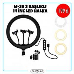 14 İNÇ 3 BAŞLIKLI LED M-36 HALKA