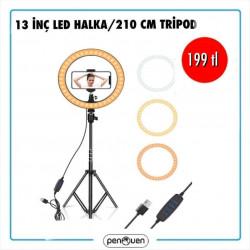13 İNÇ LED HALKA VE 210 CM TRİPOD