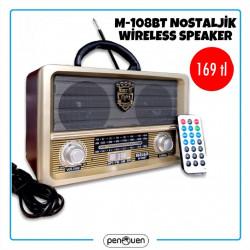 M-108BT NOSTALJİK WİRELESS SPEAKER