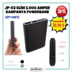 JP-03 SLİM 5000 AMPER KAMPANYA POWERBANK