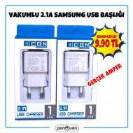 VAKUMLU 2.1A SAMSUNG USB BAŞLIK
