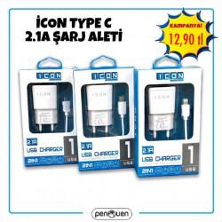 İCON TYPE C 2.1A ŞARJ ALETİ