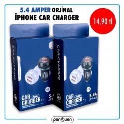 5.4 AMPER ORJİNAL İPHONE CAR CHARGER