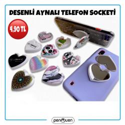 DESENLİ AYNALI TELEFON SOCKETİ