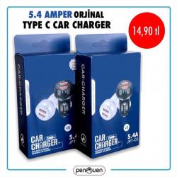 5.4 AMPER ORJİNAL TYPE C CAR CHARGER