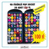 9D FİGÜRLÜ POP SOCKET 50 ADETLİ STANDLI